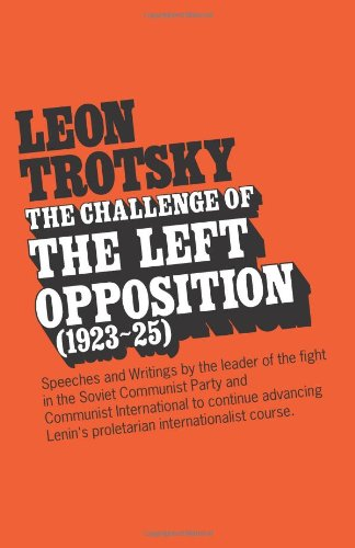 LEON TROTSKY the Challenge of the Left Opposition (1923-25)