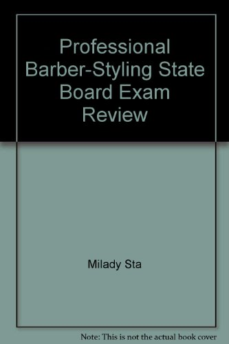 9780873505024: Professional Barber-Styling State Board Exam Review