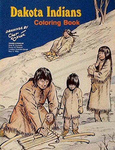 9780873511490: Dakota Indians Colouring Book