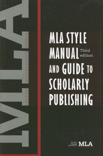 9780873522977: MLA Style Manual and Guide to Scholarly Publishing, 3rd Edition
