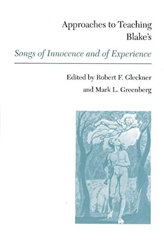 9780873525176: Approaches to Teaching Blake's Songs of Innocence and of Experience (Approaches to Teaching World Literature (Hardcover))