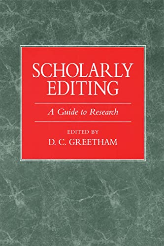 9780873525619: Scholarly Editing: A Guide to Research