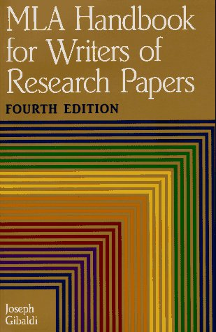 MLA Handbook for Writers of Research Papers (Mla Handbook for Writers of Research Ppapers) (0873525655) by Joseph Gibaldi