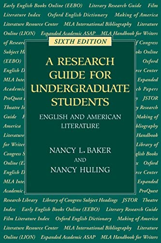 Research Guide for Undergraduate Students (Sixth Edition)