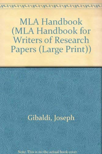 9780873529761: Mla Handbook for Writers of Research Papers (MLA Handbook for Writers of Research Papers (Large Print))