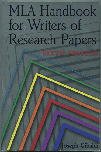 9780873529877: MLA Handbook for Writers of Research Papers (Sixth Edition Large Print)