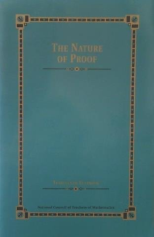 9780873534024: The Thirteenth Yearbook: The Nature of Proof