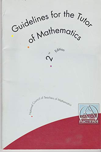 Guidelines for the Tutor of Mathematics: Laughlin, Connie; Kepner,