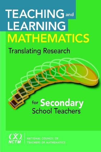 9780873536530: Teaching and Learning Mathematics: Translating Research for Secondary School Teachers