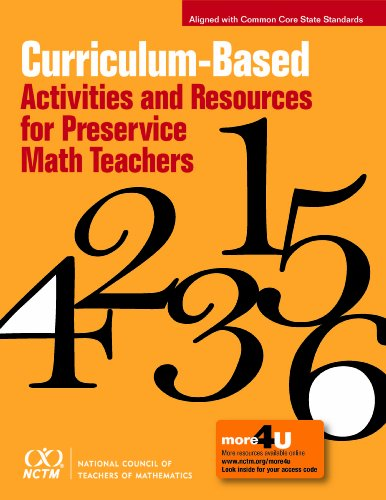 9780873536820: Curriculum-Based Activities and Resources for Preservice Math Teachers