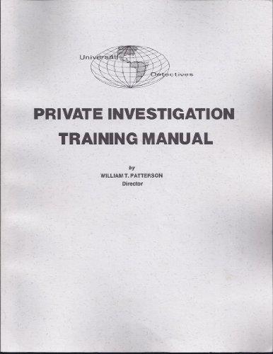 9780873641616: Private Investigation Training Manual