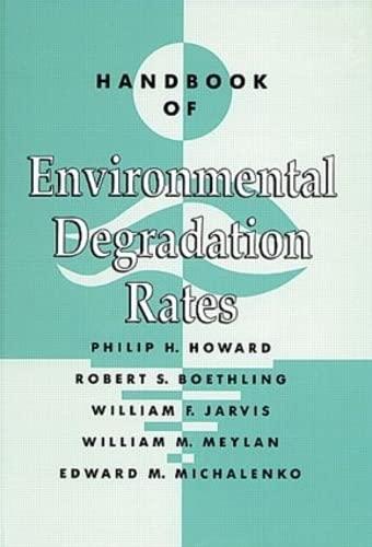 9780873713580: Handbook of Environmental Degradation Rates