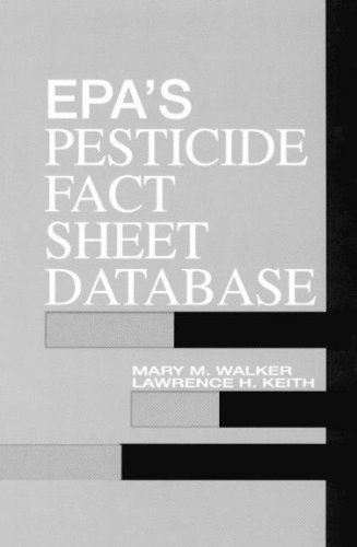 9780873716635: EPA'S Pesticide Fact Sheet Database