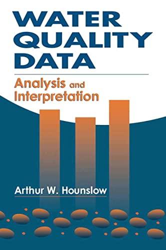 9780873716765: Water Quality Data: Analysis and Interpretation