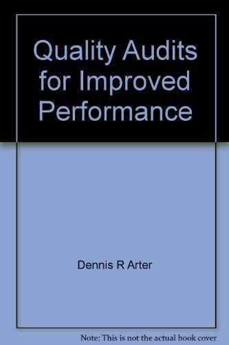 9780873890571: Quality audits for improved performance
