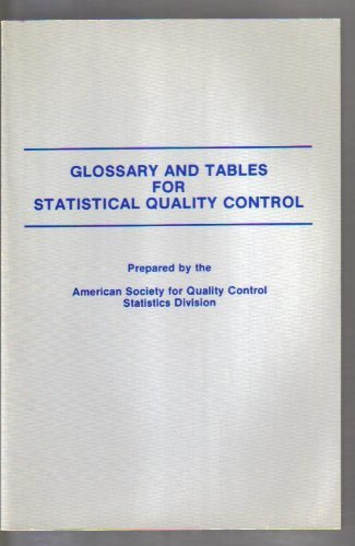9780873890670: Glossary and Tables for Statistical Quality Control/No H0518