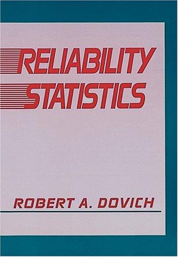 9780873890861: Reliability Statistics(H0601)