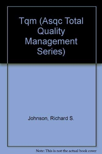 9780873892261: Tqm (Asqc Total Quality Management Series)