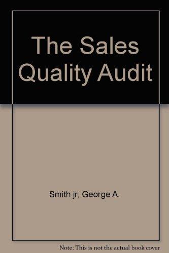9780873893374: The Sales Quality Audit