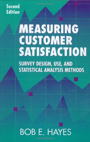 9780873893626: Measuring Customer Satisfaction: Survey Design, Use, and Statistical Analysis Methods