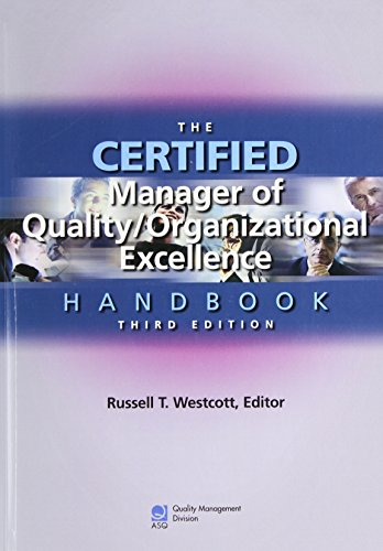 9780873896788: The Certified Manager of Quality/organizational Excellence Handbook, Third Edition