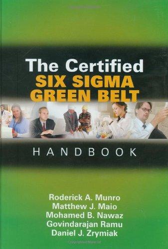 9780873896986: The Certified Six Sigma Green Belt Handbook, First Edition