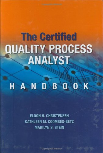 9780873897099: The Certified Quality Process Analyst Handbook