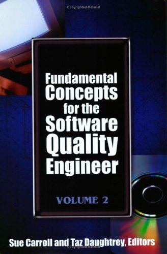 9780873897204: Fundamental Concepts for the Software Quality Engineer: 2