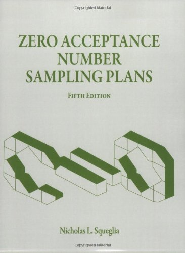 9780873897396: Zero Acceptance Number Sampling Plans, Fifth Edition