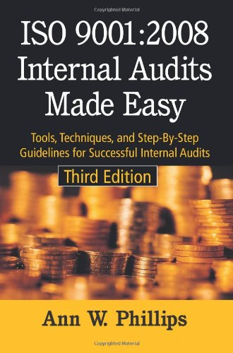 9780873897518: ISO 9001:2008 Internal Audits Made Easy: Tools, Techniques, and Step-by-Step Guidelines for Successful Internal Audits