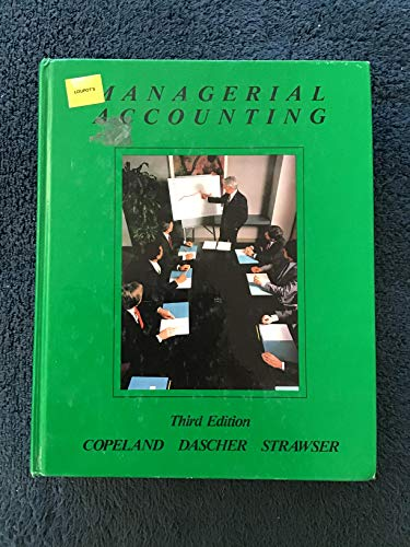 Managerial Accounting: Stawser, Jerry R.,