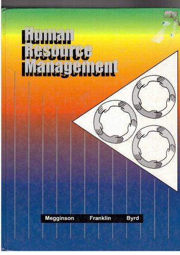 Human Resource Management: Leon C. Megginson;