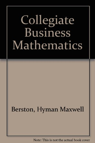9780873934572: Collegiate Business Math