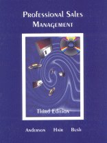 Professional Sales Management: Anderson, Rolph E., Hair, Joseph F., Bush, Allen J.