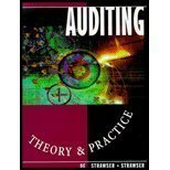Auditing: Theory and Practice: Strawser, Jerry R.;Strawser, Robert H.