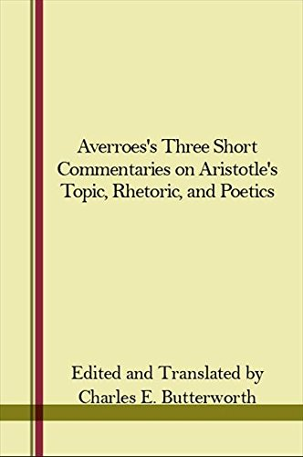 9780873952088: Averroes's Three Short Commentaries on Aristotle's