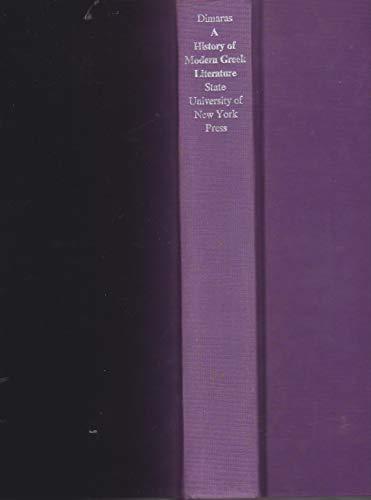 9780873952309: A History of Modern Greek Literature