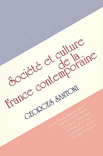 Contemporary French Culture and Society: Santoni