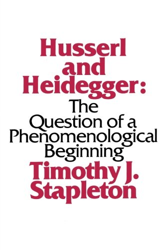 9780873957458: Husserl and Heidegger: The Question of a Phenomenological Beginning (S U N Y Series in Philosophy)