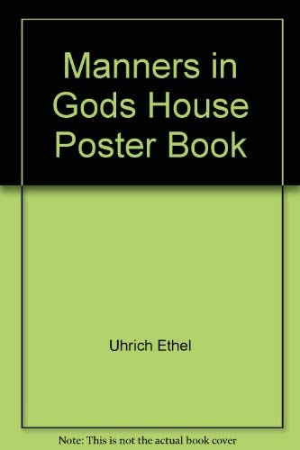 9780874039290: Manners in Gods House Poster Book