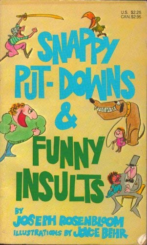 9780874065718: Snappy Put-downs & Funny Insults