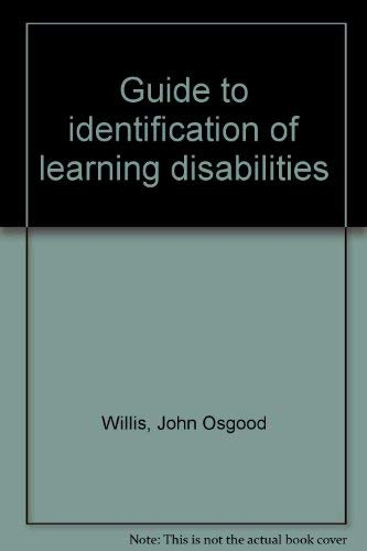 9780874119800: Guide to identification of learning disabilities
