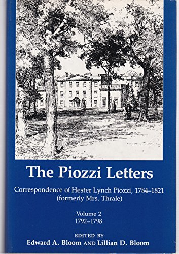 9780874133608: The Piozzi Letters: Correspondence of Hester Lynch Piozzi, 1784-1821: Volume 2 1792-1798 (Piozzi Letters)