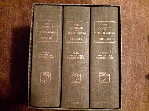 9780874170320: The Journals of Alfred Doten, 1849-1903 (Three Volume Set)