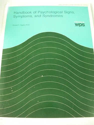 9780874241730: Handbook of Psychological Signs Symptoms and Syndromes