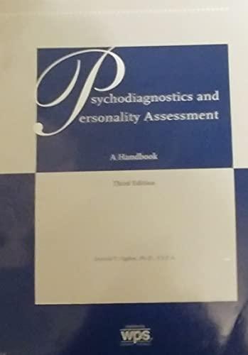9780874243741: Psychodiagnostics and Personality Assessment Handbook