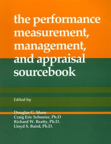 9780874252651: the performance, measurement, management, and appraisal sourcebook