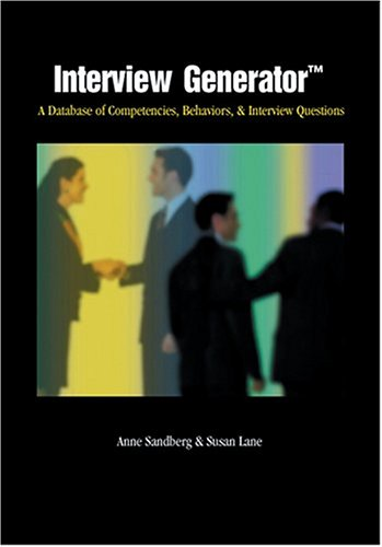 Interview Generator (0874256445) by Susan Lane; Anne Sandberg
