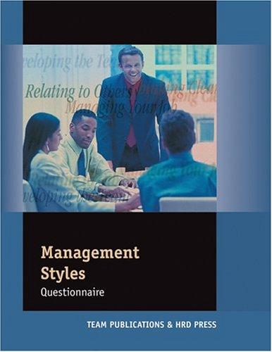 9780874257717: Management Styles Questionnaire