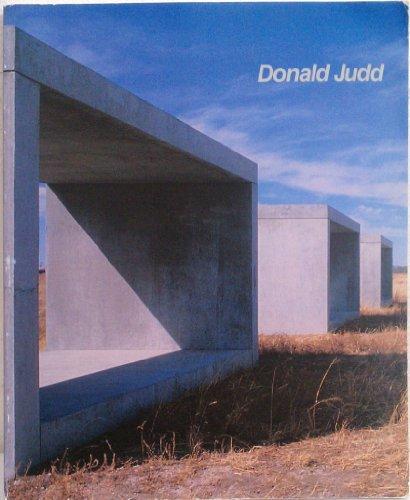 DONALD JUDD: Judd, Donald). Haskell,